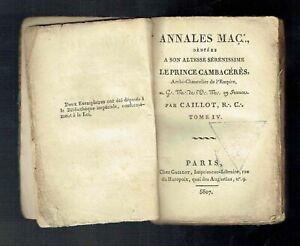 Franc Maçonnerie GO - Annales Maçonniques Prince Cambacérès - Caillot - 5807