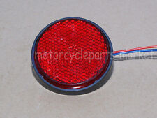 1PCS Round Reflector Red 24 LED Rear Tail Stop Brake Marker Light Truck Trailer