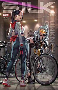 🚨🔥🕷 SILK #4 KAEL NGU Exclusive Trade Dress Variant Black Cat NM Gemini