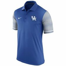 NEW Men's NIKE Kentucky Wildcats Early Season Polo Shirt M KY UK Football Blue