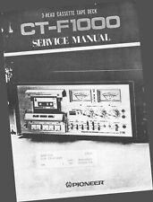 Service Manual-Anleitung für Pioneer CT-F1000