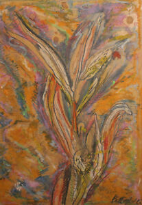2012 Abstract pastel painting signed
