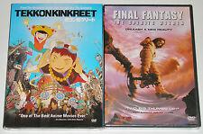 Anime DVD Lot - Tekkonkinkreet (New) Final Fantasy The Spirits Within (New)