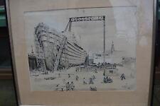 Otto Thämer  1892/1975 Schiffsbau Werft Faksimile Druck ca 50er Jahre HAMBURG