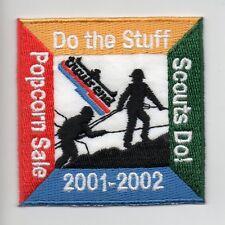 """DO THE STUFF SCOUTS DO!""  Trails End 2001-2002 Popcorn Sale PATCH Boy Scouts"
