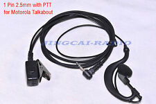 PTT Earpiece Earphone for Motorola Talkabout Cobra Radio 1 Pin 2.5mm T6200 FV800