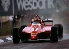 Gilles Villeneuve Formula 1 Red Ferrari in the Rain Color 8 X 10 Photo Picture