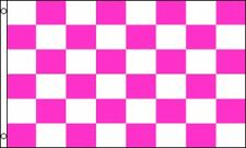 3'x5' CHECKERED FLAG PINK & WHITE OUTDOOR INDOOR BANNER PENNANT SPORTS HUGE 3X5