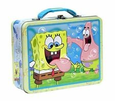 Nickelodeon SpongeBob Squarepants Metal Tin Storage Lunch Box Bag