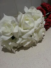 144 large ivory foam flowers (noble) - 24 bunches of 6 flowers - full box