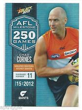 2013 Champions AFL Milestone Game (MG32) Chad CORNES Greater Western Sydney