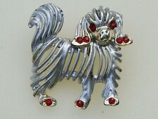 Vintage Pekingese Dog Rhinestone Brooch/Pin Pekinese