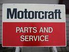 "Vintage 1960's Ford Motorcraft Parts & Service 36"" Metal 2-Sided Sign"