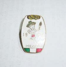 1968 Olympic Games Mexico Original Pin TORCHBEARER with SOMBRERO in TORCH RELAY!