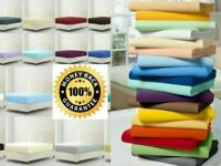 """Extra Deep 16""""/40 cm Fitted Sheet Bed Sheets Single Double King Size Poly cotton"""