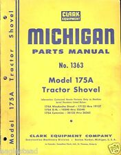 Equipment Manual - Michigan - 175A - Tractor Shovel - Parts Catalog (E1761)