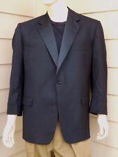 BURBERRY LONDON Tuxedo Suit Long Sleeve 1-Button 100% Wool BLACK/SIZE: 48REG