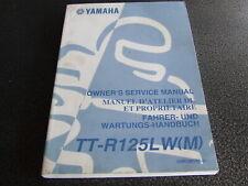 Yamaha TTR125 TTR 125M TTR125LW 2000 Genuine Service Workshop Manual