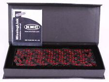 KMC X10SL DLC Bike Chain Shimano / SRAM / Campagnolo 10 Speed Black / Red