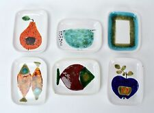 Mid-Century Modern Abstracted Fruit & Animal Dishes Schneider Atelier Rabiusla