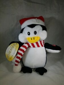 Chantilly Lane Brite Spots Christmas Penguin Singing Stuffed Animal Plush