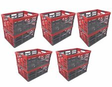 10 x Pro Foldable box TUV certified 45 L bis 50 kg anthracite/red Folding Crate