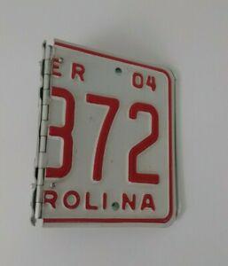 Vintage Metal North Carolina License Plate Ringed Binder Album/ Planner