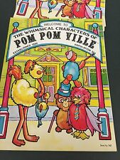 70's Vintage Characters Of Pom Pom Ville Instruction Pattern Craft Book