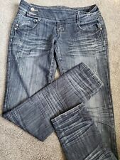 Women's Almost Famous Skinny Stretch Destructed Blue Jeans Size 9