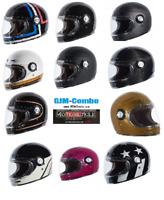 TORC T1 Retro Full Face Motorcycle Fiberglass Helmet - DOT ECE 22.05