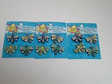 HANDMADE DRAGONFLY CHARMS FOR JEWELRY MAKING - 3 PACKAGES