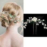 Forcina FIORE cristalli spillone fermaglio accessori capelli acconciatura sposa