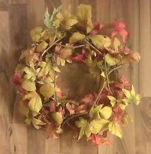 Thanksgiving Fall Autumn Leaf Wreath Seasonal Decoration Decor