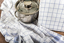 TK Home Textiles 10 Stück Geschirrtücher 100% Baumwolle kochfest, blau, karriert
