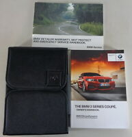 Owner's Manual + Wallet BMW 2-Series F22 Coupé 218i - M240i From 06/2016