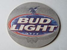 Beer Coaster ~ BUDWEISER Bud Light ~ Silver Eagle Soaring ** See STORE for 1000s