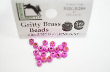 Gritty Brass Beads Ø 3,8mm Hareline 20 St. esibisce OTTONE BEADS PINK Grit