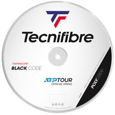 Tecnifibre Black Code Tennis String - 1.24mm/17G - 200m Reel - Fire - BlackCode