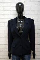 LUISA SPAGNOLI Donna Taglia 44 Cappotto Giacca Blazer Blu Jacket Women's Italy