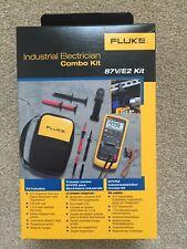 FLUKE 87V 87V/E2 TRUE RMS INDUSTRIAL ELECTRICIANS MULTIMETER COMBO KIT - Dec 20