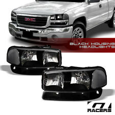 For 1999-2006 Gmc Sierra/00+ Yukon Black Clear Headlights Signal Bumper Lamps Nb (Fits: Gmc)