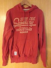 Superdry Mens Medium (M) Hooded Top Hoodie Red Designer Jumper .