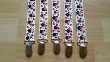 BABY PRINTED MINNIE MOUSE DUMMY/PACIFIER HOLDER CLIPS BARGAIN