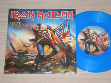 "IRON MAIDEN - THE TROOPER - 45 GIRI 7"" LIMITED ED. BLUE VINYL WITH POSTER"