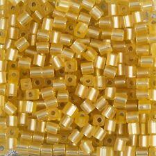 Miyuki ARGENT MAT doublé gold Cube 4 mm verre rocailles 20g tube (B86 / 2)
