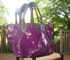 Kate Spade NY RARE SMALL Coal CATALINA POCKET GLOSSY PURPLE TOTE Bag BEACH