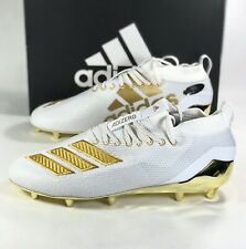 Adidas Adizero 8.0 Football Cleats White Gold EE7283 Men's Size 13 New In Box