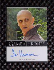 GAME OF THRONES SEASON 3 Ian Hanmore as Pyat Pree  AUTOGRAPH CARD