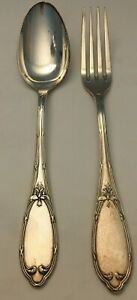 Vintage Continental Silver Plate Spoon & Fork