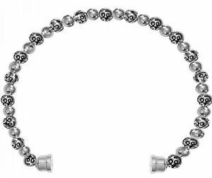 NWT Brighton Color Clique SILVER BEAD Cord Etched Silver Bracelet MSRP $38